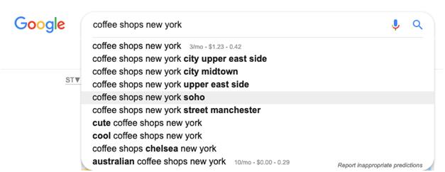 Let Google Autocomplete suggest some keywords