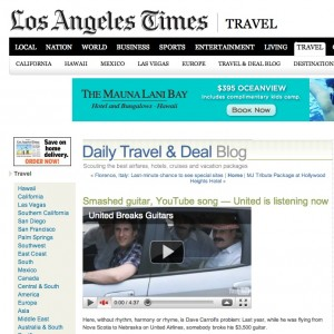 United Breaks Guitars LA Times