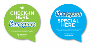 Foursquare stickers