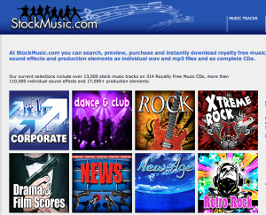 Stock Music homepage
