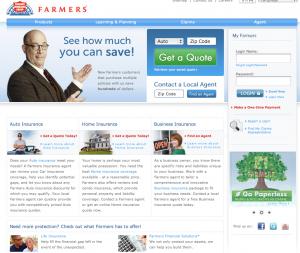 Farmers Insurance website