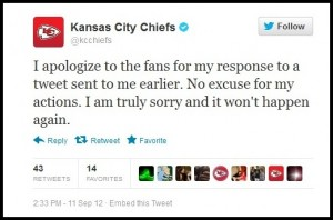 KC Chiefs Apology