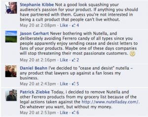 Nutella Nutella Facebook comments 2