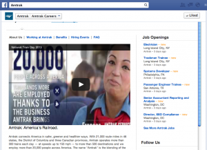 Amtrak Careers Facebook