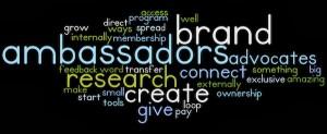 Brand Ambassador Wordle med