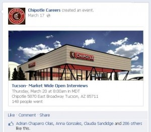 Chipotle Careers on Facebook