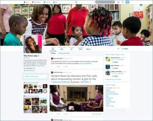 Michelle Obama's new Twitter profile