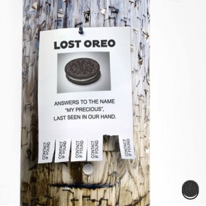 Oreo lost poster