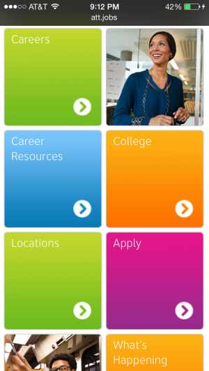 AT&T jobs mobile site