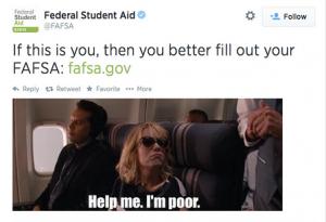 """FAFSA's """"poor"""" tweet"""