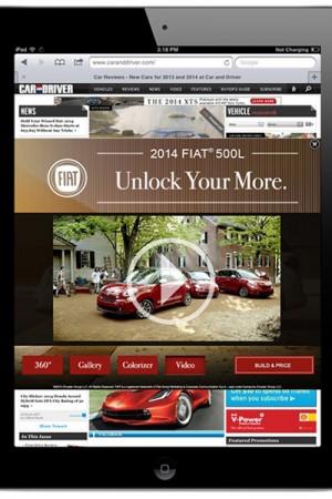 Fiat tablet ad