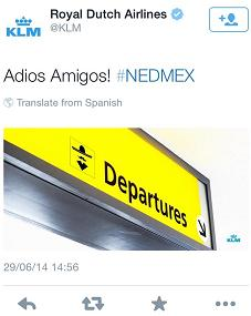 KLM 's World Cup tweet