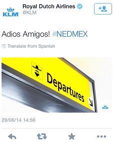 KLM 's World Cup tweet