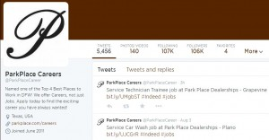 Park Place Career Twitter