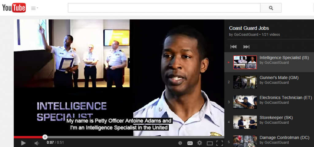 US Coast Guard on YouTube