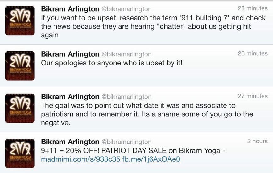 Bikram Arlington tweet