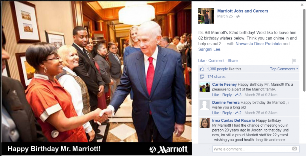 Marriott asks for birthday wishes
