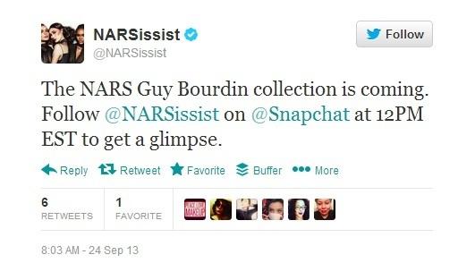 NARS using Snapchat