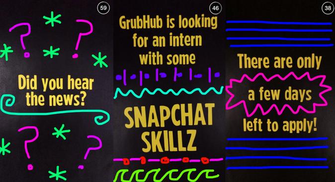 GrubHub using Snapchat