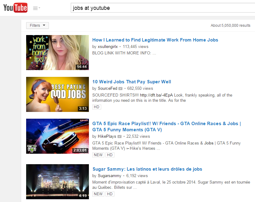 Jobs at YouTube