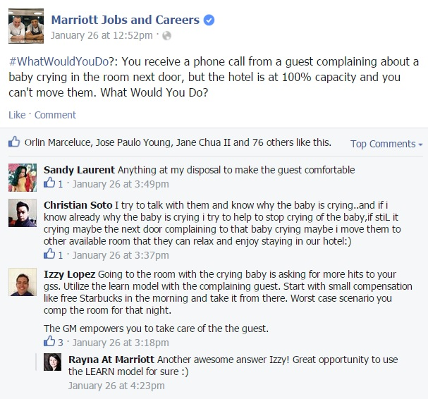 "Marriott ""What Would You Do?"" Facebook"