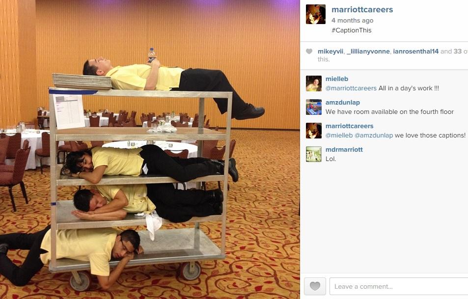 Marriott recruiting on Instagram