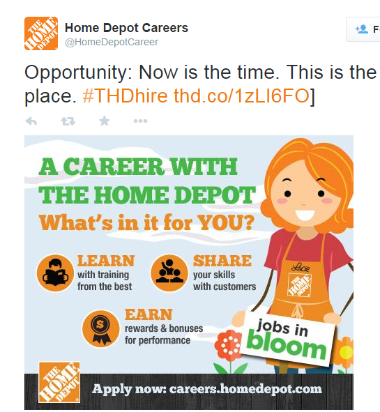 Home Depot tweet