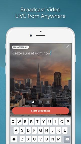 Periscope app live video broadcast
