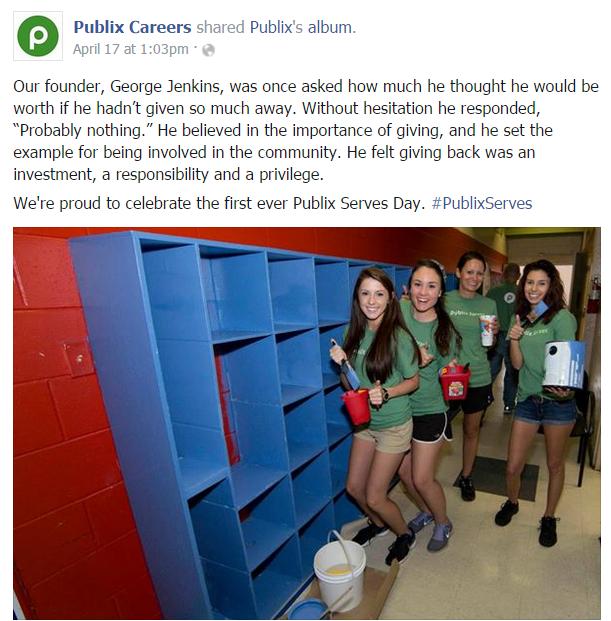 Publix Facebook post