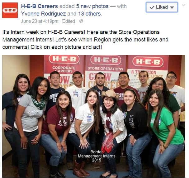 H-E-B interns photo