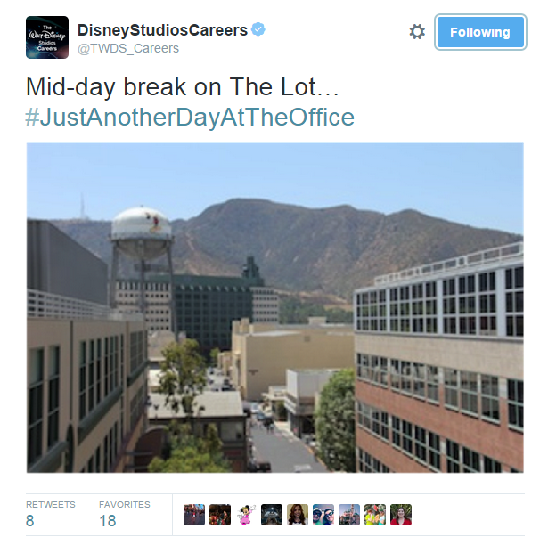 @DisneyStudiosCareers photo on Twiter