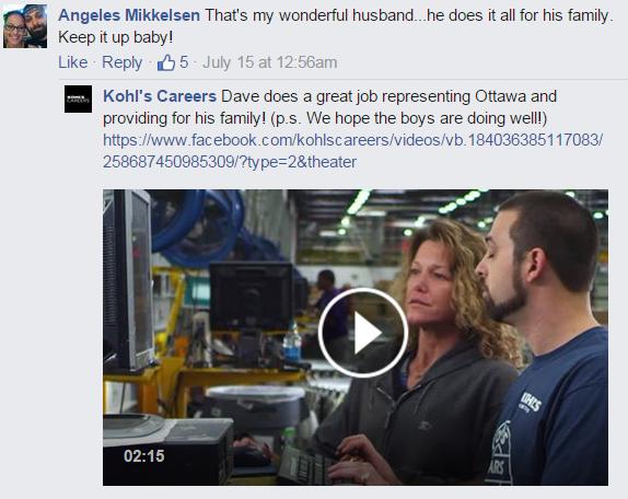 Kohl's Careers Facebook post