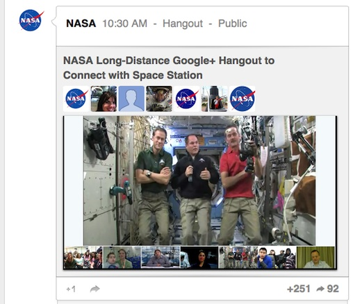 Google Hangout ISS