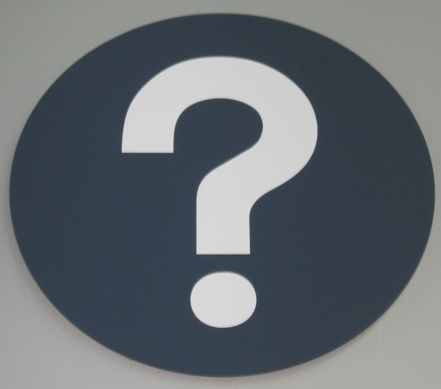 Info sign question mark