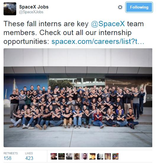 Brandemix - SpaceX post on Twitter